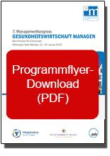 Flyer Gesundheitswirtschaft managen, PDF